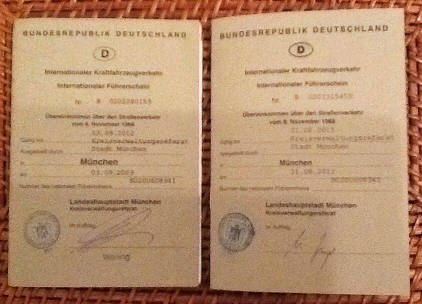 Internationaler Führerschein: Das Deckblatt