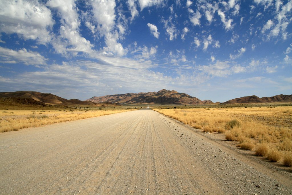 Gravelroad - Schotterpiste im Namib-Naukluft-Park