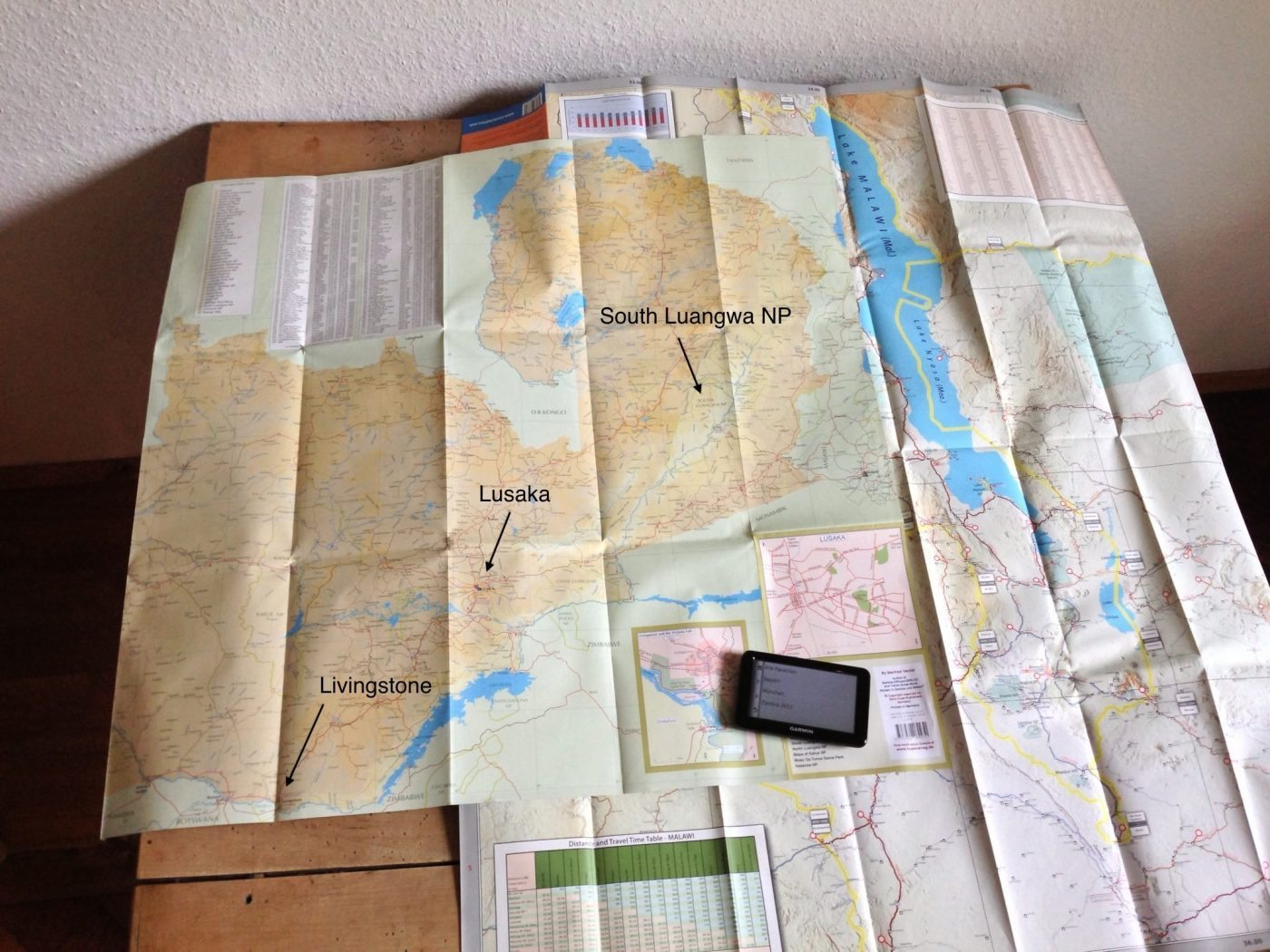 Zambia und Malawi - Karten