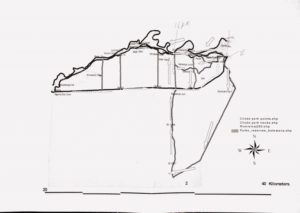 Chobe Nationalpark - Karte