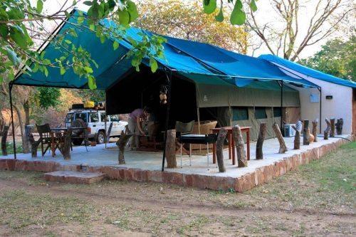 Zeltcamp am Luangwa