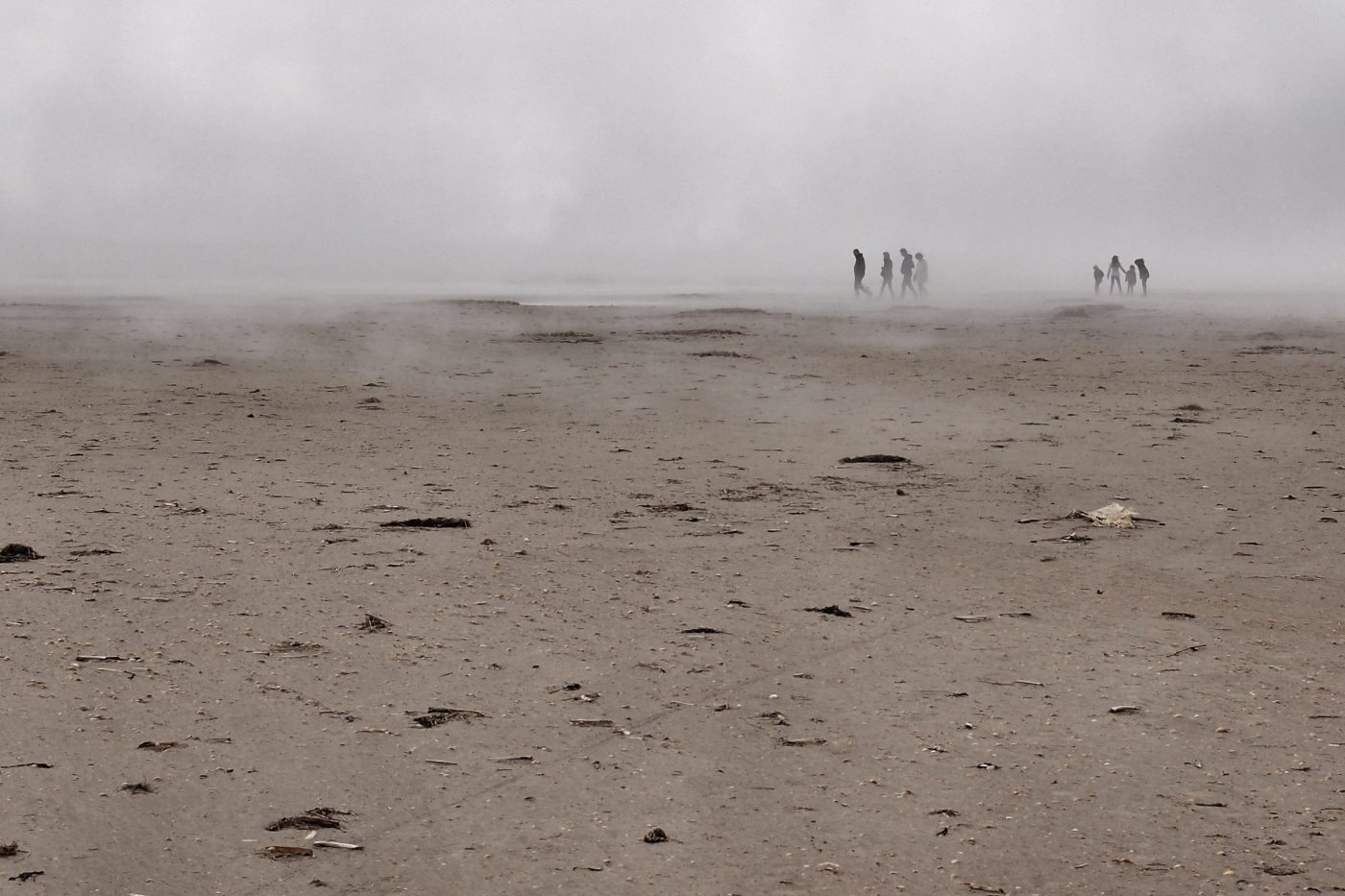 Strand im Nebel auf Fanø.