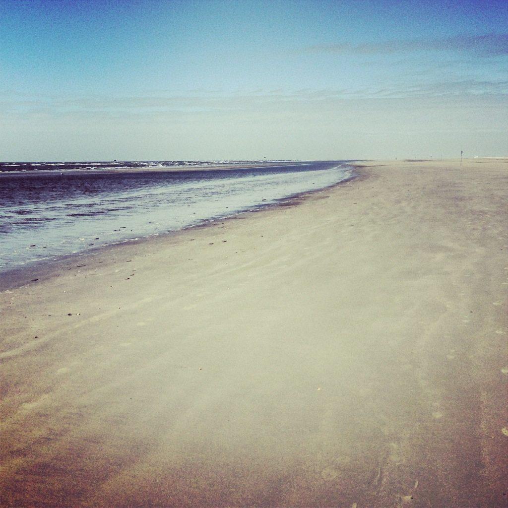 Endloser Sandstrand auf Fanø.