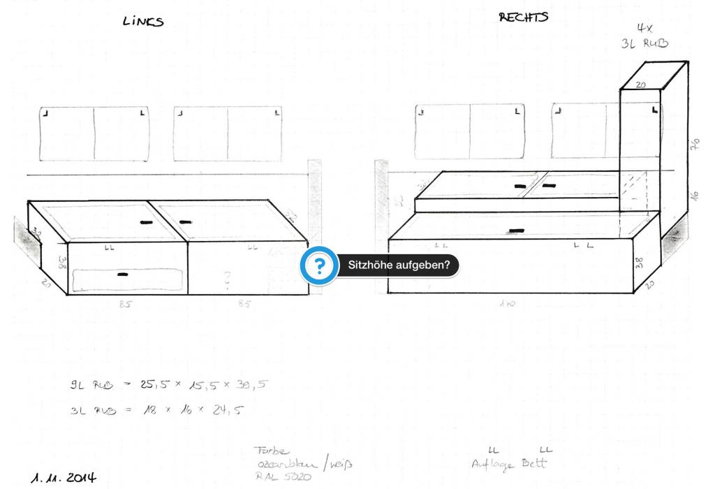 Innenausbau Defender - Skizze2
