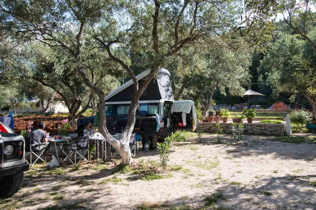 Camping in Albanien: Nashos Camping