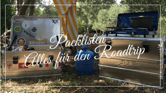 Packliste für den Roadtrip