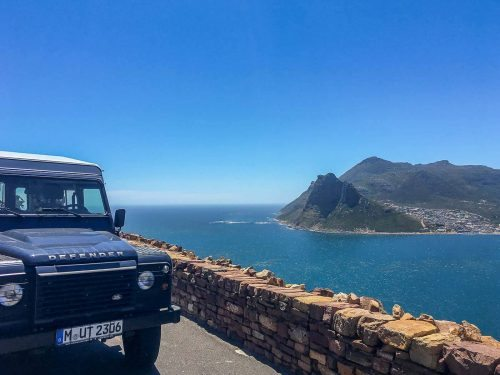 Defender am Chapman's Peak