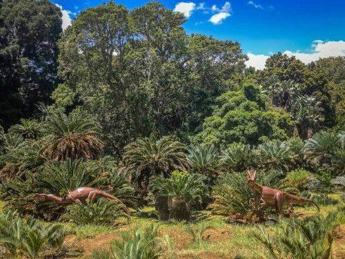 Dinosaurier in den Kirstenbosch Botanical Gardens