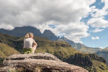 Wanderung zu der Sphinx in den Drakensbergen in Kwazulu-Natal