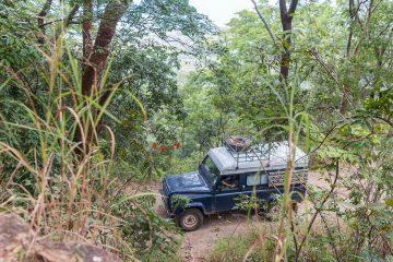 Abstieg von Livingstonia im Land Rover