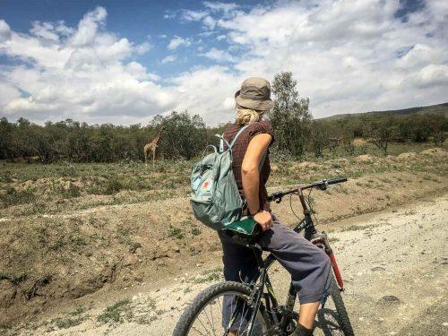 Safari auf dem Mountainbike durch den Hell's Gate Nationalpark