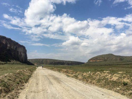 Landschaft des Hell's Gate Nationalpark in Kenia